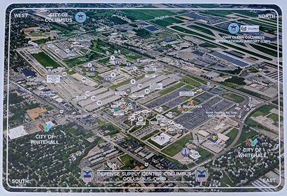 Map of the Defense Supply Center Columbus