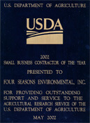 USDA Small Business Contractor of the Year Award