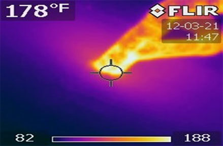 Thermal Image of Cracked Pipe